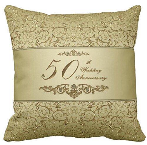 (Bling Bling 50th Wedding Anniversary Throw Throw Pillow Case Sofa or Car Cushion)