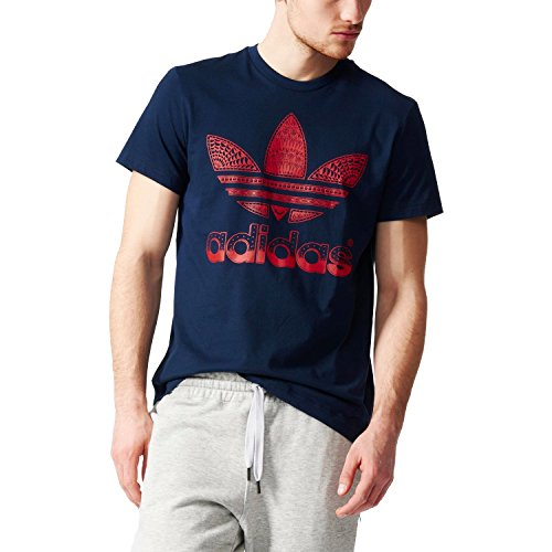 adidas Originals Men's Trefoil Fill Logo T-Shirt - Navy - X-Large