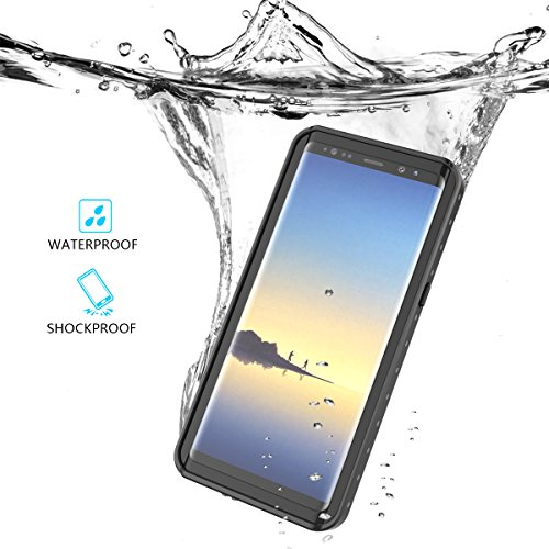 Samsung Galaxy Note 8 Waterproof Case IP68 Outdoor Underwater Cell Phone Case Full Body ShockProof SnowProof DirtProof Case Cover+ Screen Protector Fingerprint Recognition Touch ID for Samsung Note 8