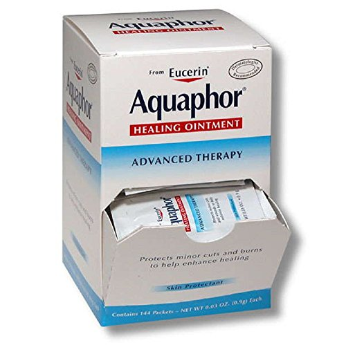 Aquaphor Healing Ointment,contains 144 packets,NET WT 0.03 OZ.(0.9g)Each