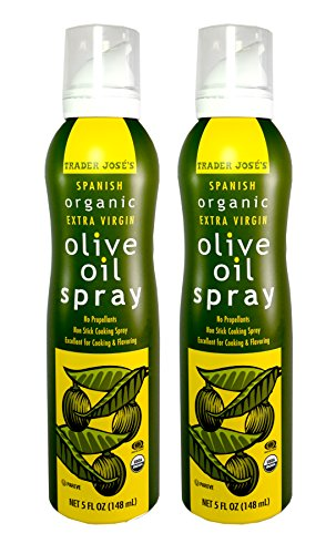 Trader Joe's Jose's Spanish Organic Extra Virgin Olive Oil Non Stick Cooking Spray 5 Fl. Oz. (2-Pack) (Best Organic Olive Oil For Cooking)