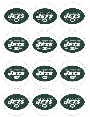 Single Source Party Supply - NY Jets Cupcake Edible Icing Image (Ny Jets Cake)