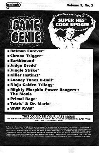 Amazon.com: Game Genie Codebook Update for Super Nintendo ...