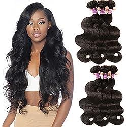 Best Quality Brazilian Body Wave Virgin Hair Extensions 4 Bundles Brazilian Wavy Unprocessed Human Hair Weave Natural Color 12 14 16 18 Inch