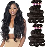 10A Brazilian Virgin Body Wave 3 Bundles Unprocessed Remy Body Wave Human Hair Extensions 3 Bundles Nature Black Color 12 12 12 Inch Review