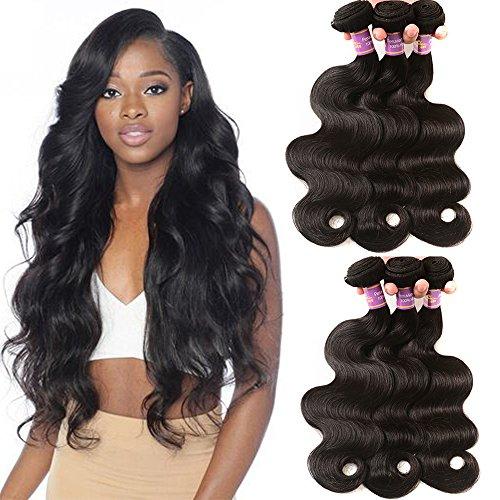 10A Brazilian Virgin Body Wave 3 Bundles Unprocessed Remy Body Wave Human Hair Extensions 3 Bundles Nature Black Color 12 12 12 Inch