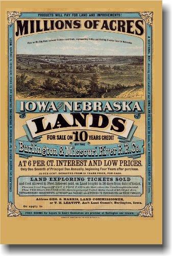 Millions of Acres - Iowa & Nebraska - Vintage Reprint Westwa