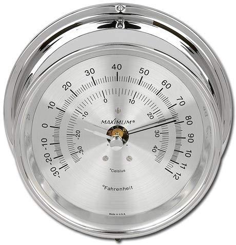 Mini-Max Thermometer - Chrome case, Silver dial