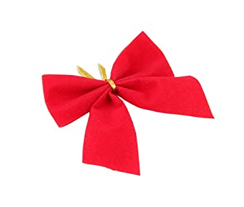 24 pcs christmas decorations ribbon bows christmas tree ornaments party decor red