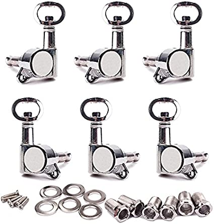 Chrome Guitar Tuning Pegs Machine Head Tuners Piercing Cabezas para Guitarra Eléctrica 3L3R 6 Piezas