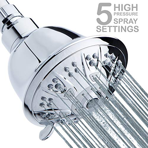 High-Pressure Shower Head 5-Setting - 4