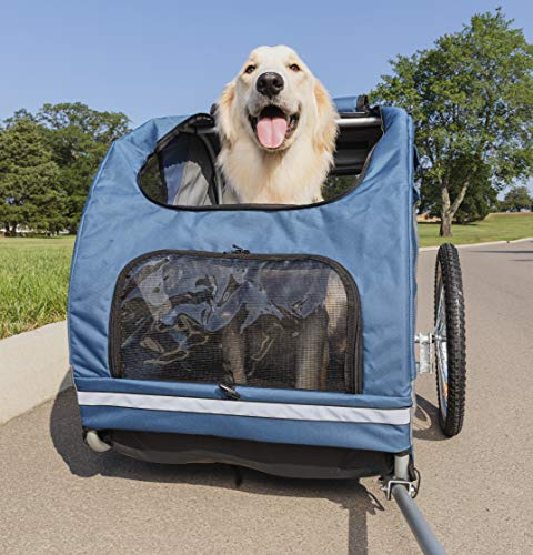 PetSafe Solvit HoundAbout Pet Bicycle Trailer for Dogs, Steel Frame, Large