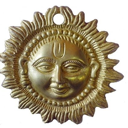 Amazon Com Jmd Handicraft Wall Hanging Sun Face Brass Metal Plaque