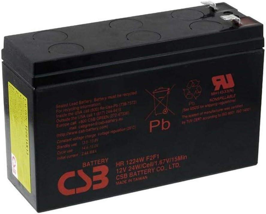 CSB Batería Plomo-ácido HR1224WF2F1, 12V, Lead-Acid