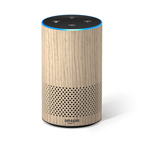 New Echo 2nd Generation Improved Sound with Dolby Oak Finish (Large Image)