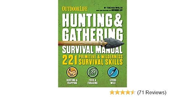 amazon com outdoor life hunting gathering survival manual 221 rh amazon com