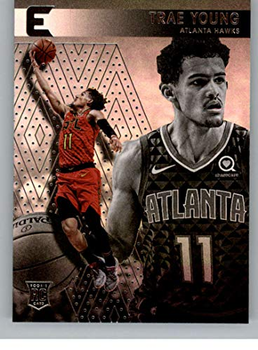 2018-19 Panini Essentials #234 Trae Young Atlanta Hawks Rookie Basketball Card