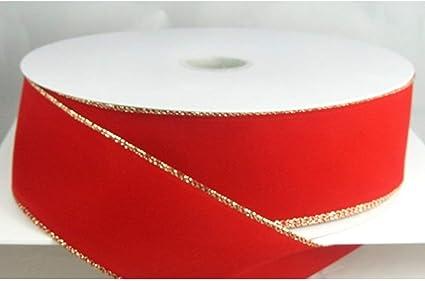 """Wired Red Velvet Christmas Ribbon 2 1//2/"""" #40-50 Yards"""