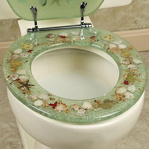 sea shell toilet seat. SEASHELL AND SEAHORSE RESIN TOILET SEAT  STANDARD SIZE GREEN