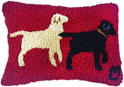 Chandler 4 Corners Lab Buddies on Red 8 x12 Pillow