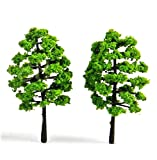 Miniature Dollhouse Fairy Garden Green Trees/Shrubs - Set of 2 - My Mini Garden Dollhouse Accessories for Outdoor or House Decor