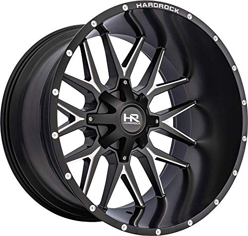 Hardrock - Affliction, 24x14, Gloss Black Milled; 6x135/139.7, 76mm Offset, 108mm ()