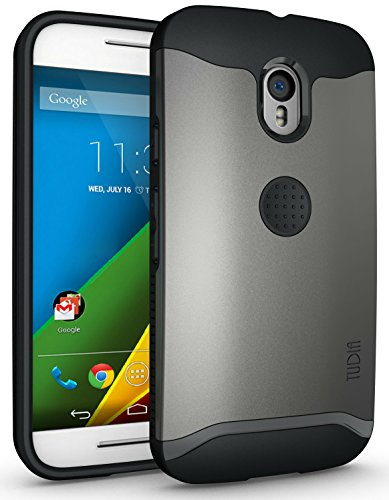 TUDIA Slim-Fit Merge Dual Layer Protective Case for Motorola Moto G 3 (3rd Gen 2015 Released) (Metallic Slate)
