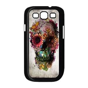 J-LV-F Phone Case Sugar Skull Hard Back Case Cover For Samsung Galaxy S3 I9300