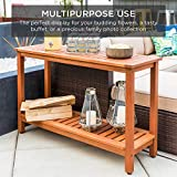 Best Choice Products 48in 2-Shelf Eucalyptus Wood