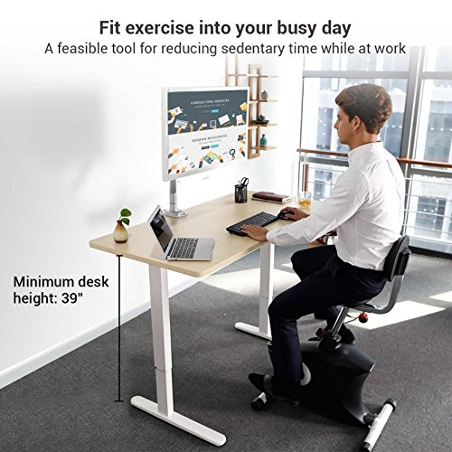 SereneLife Exercise Bike Home/Office Exercise Bike - Under Desk Bicycle Pedaling Fitness Machine
