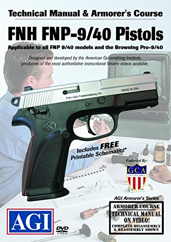 American Gunsmithing Institute Armorer's Course Video on DVD for FNH FNP Series Pistols - Technical Instructions for Disassembly, Cleaning, Reassembly and More