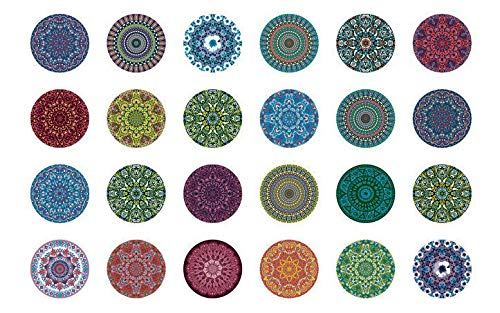 Mandala 2-48875 - Ceramic Decal - Enamel Decal - Glass Decal - Waterslide Decal - 3 Different Size Sheet (Images) to Choose from. Choose Either Ceramic (Enamel) or Glass Fusing Decals by XpressionDecals
