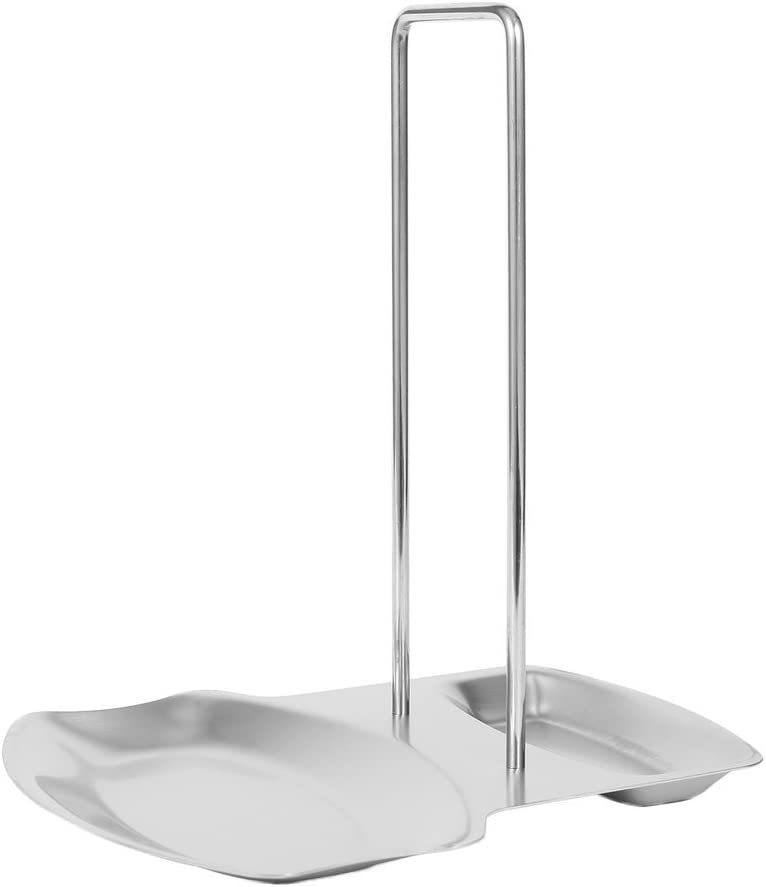 Ouken Stainless Steel Pan Pot Lid and Spoon Rest Rack Organizer Storage Stand