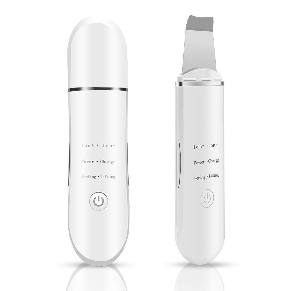 Skin Scrubber Seeback Facial Pores Cleaner and Removal Facial Dirty Exfoliator for Skin Deep Cleaning Facial Lift Treatment Face Beauty Spatula white