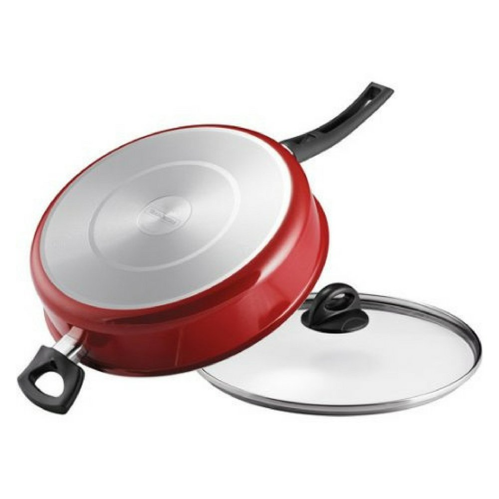 Tramontina 5-Qt EveryDay Nonstick Jumbo Cooker with Lid, Red (1)
