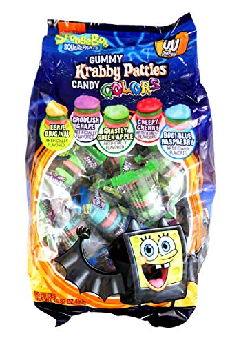Spongebob Squarepants Gummy Krabby Patties Candy Colors (50 count)