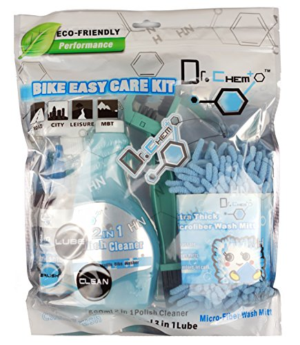 Jecr Bike Easy Care Kit - 4in1 Bicycle Cleaning Tool Set - Includes Micro Fiber Wash Mitt, Heavy Duty Chain Brush, 3in1 Chain Lube, and Polish Cleaner - Complete Cycling Wash Kit by Jecr (Image #8)
