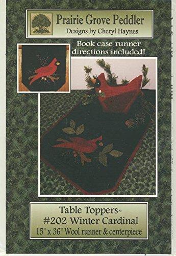- Winter Cardinal Wool Applique Table Runner Pattern by Prairie Grove Peddler 15