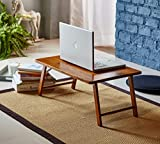 PJ Wood Foldable Laptop Desk and Bed Tray Table - Walnut