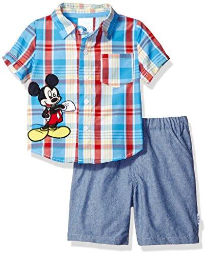 Disney Mickey Mouse 2 Piece Plaid