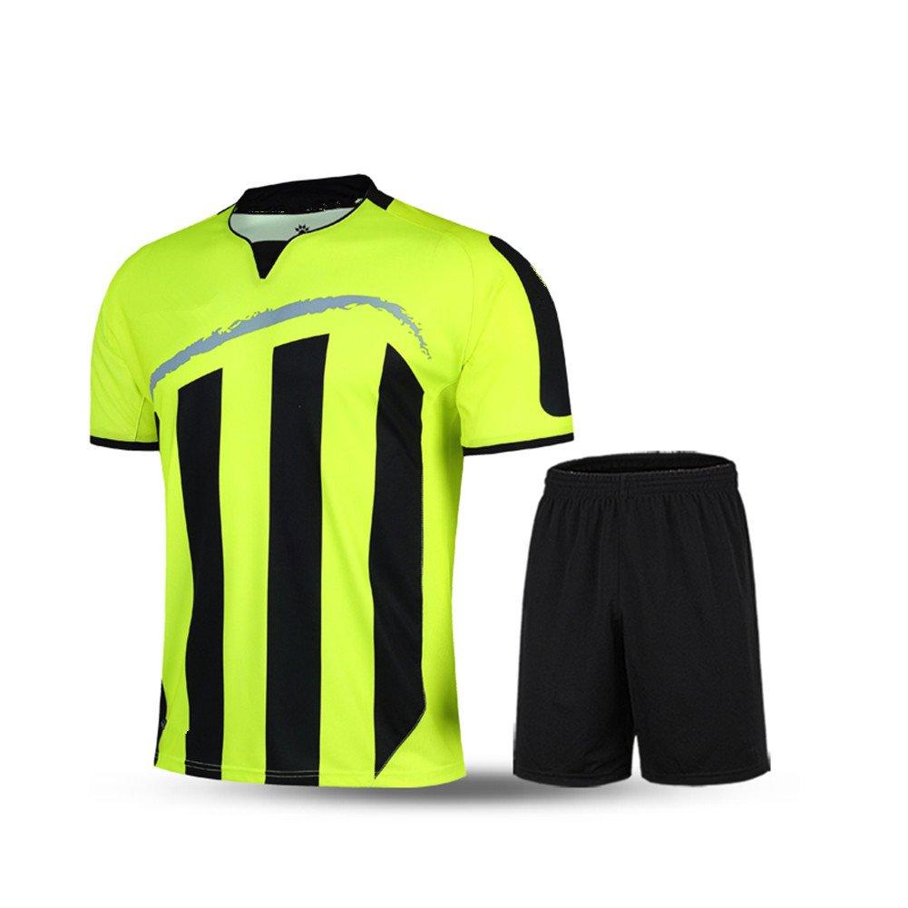 Kelme半袖サッカースポーツストライプUniform B01ELAC5ZW 3L|グリーン/ブラック グリーン/ブラック 3L