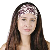Elephant March Organic Cotton Wide Active Yoga Fleece Lined Headband Wrap-Sand