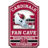 "NFL Arizona Cardinals Fan Cave Wood Sign, 11"" x 17"""