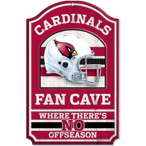 NFL Arizona Cardinals Fan Cave Wood Sign, 11