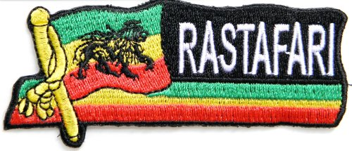 The Lion of Judah Rasta Rastafari Jamaica Reggae Logo Jacket T shirt Patch Sew Iron on Embroidered Badge Sign Costume