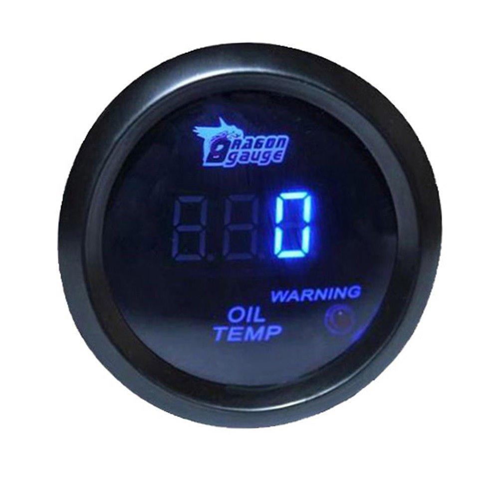 Supmico 12V Auto 52mm Universale Digitale led blu display leggero Pressione dell'olio Manometro Calibro