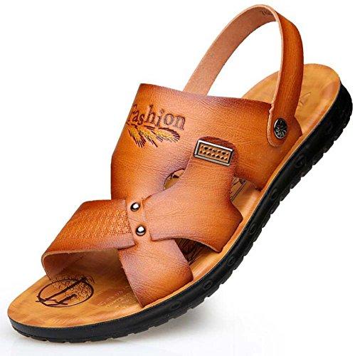 Ocasionales Tendencia de de Playa Sandalias Antideslizantes Hombre Zapatillas Amarillo para Verano de Zapatos Juvenil Sandalias Sandalias wnIHRW7Pq