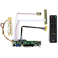 VSDISPLAY HDMI+VGA+CVBS+USB+RF+Audio LCD Motor Driver Board Controller Kit Work For 15.4 17 LTN154P1 LTN170WP 1680x1050 1CCFL 30P LCD Panel