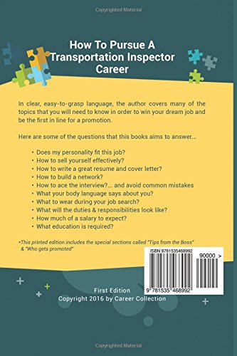 transportation inspector career special edition the insiders guide to finding a job at an amazing firm acing the interview getting promoted anne