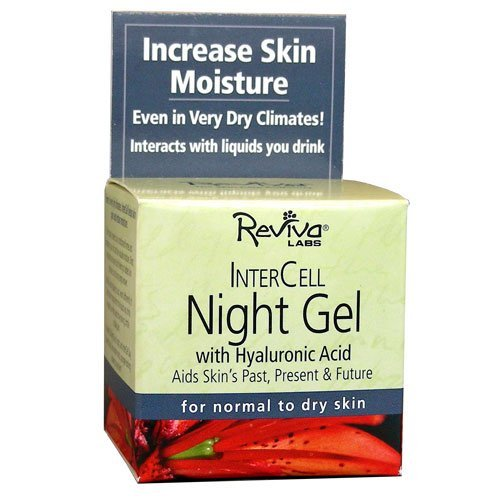 Reviva Labs Intercell Night Gel with Hyaluronic Acid, 1.25 Ounce